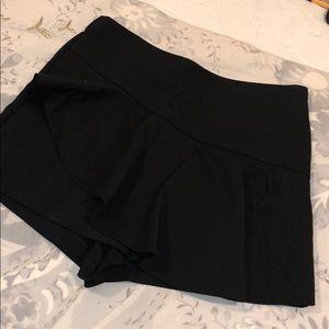Black Zara Ruffle Skort